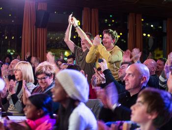 begeistertes Publikum beim Tiroler Abend